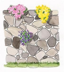 Pflanzen Für Trockenmauer : bauanleitung f r eine trockenmauer garten trockenmauern trockenmauer hochbeet bauanleitung ~ Orissabook.com Haus und Dekorationen