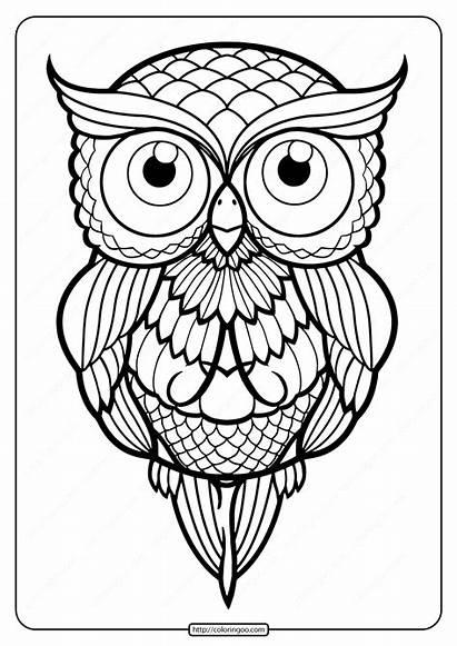Printable Tattoo Coloring Owl Pdf Whatsapp Tweet