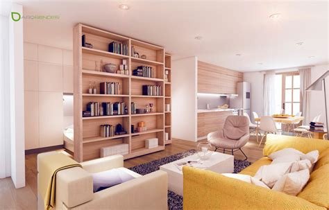 Small Apartment : Small Apartments With Cheerful Colorful Accents