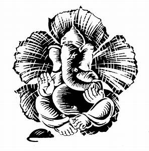 Ganesha Coloring Examples Lord Drawing Sketch - grig3.org