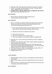 Romeo and juliet essay questions grade 9