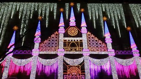 saks fifth avenue holiday light show 2016 nyc youtube