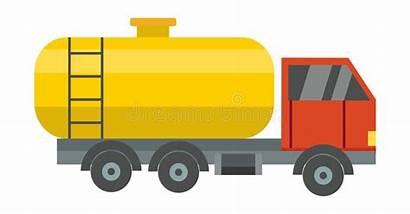 Het Camion Illustratie Della Logistische Vectorillustratie Olie