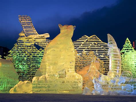 sapporo snow festival japan japan photo ice sculptures