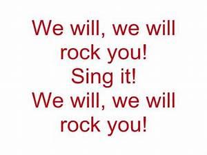 Queen - We will rock you (Lyrics) - YouTube