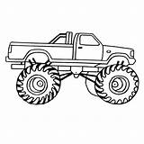 Coloring Truck Monster Pages Trucks Drawing Printable Chevy Tow Pickup Trailer Dodge Para Semi Swat Colorear Digger Grave Tractor Dibujos sketch template
