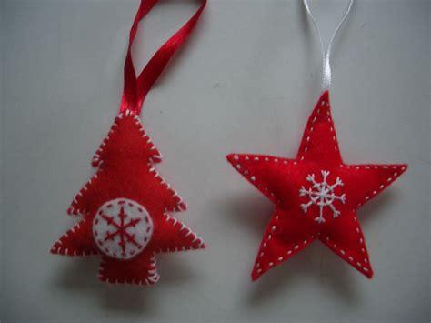 scandinavian style felt christmas tree decorations