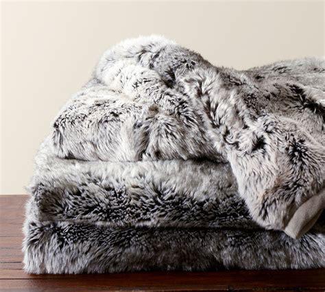 pottery barn fur blanket guest gift picks presents from designer