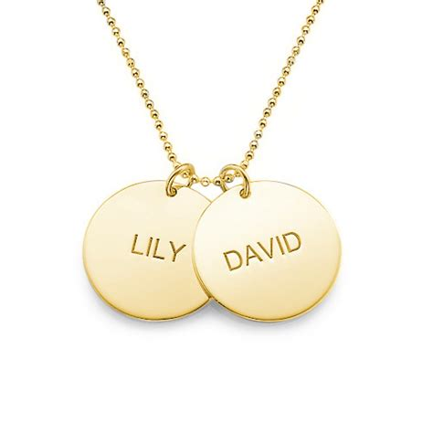 personalized jewelry gold plated disc necklace