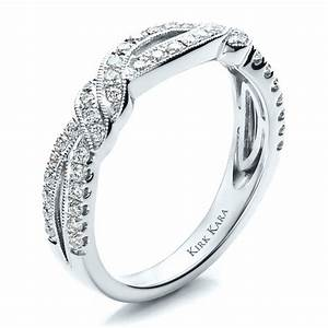 diamond split shank engagement ring kirk kara 1455 With wedding band to match split shank engagement ring