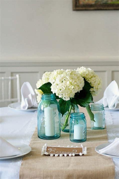 17 Best Images About Blue Mason Jars Wedding On