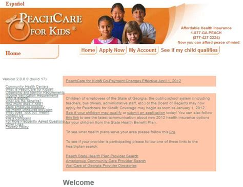 peachcare phone number assistance programs state rx plans