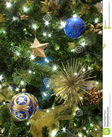 blue and gold ornaments stock photography image 3755312