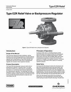 Type Ezr Relief Valve Or Backpressure Regulator