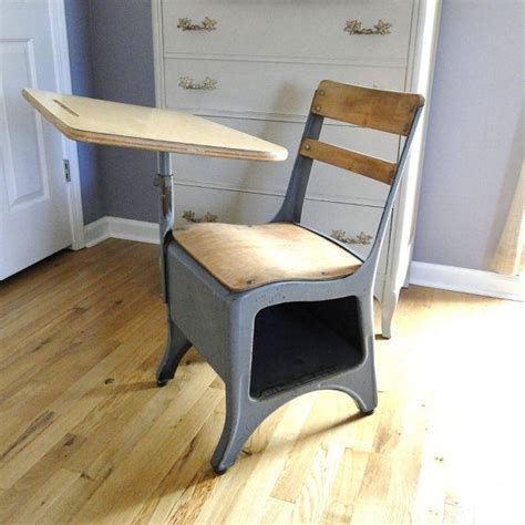 elementary desks and chairs vintage blue gray elementary desk chair under