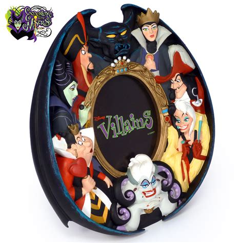 disney store parks disney villains resin figural frame maleficent jafar chernabog evil