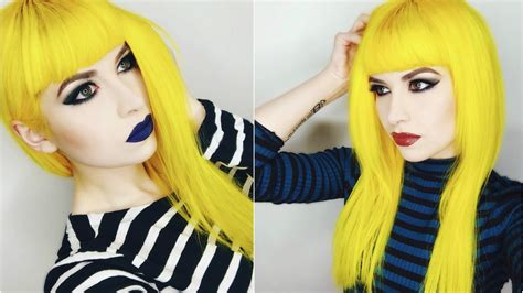 Black And Yellow Hair Color by Dying My Hair Yellow Using Arctic Fox