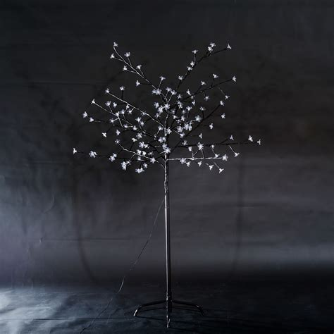 homcom 6ft 4 color led cherry blossom tree black