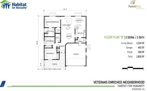 habitat  humanity  bedroom floor plans  habitat house plans home designs habitat floor