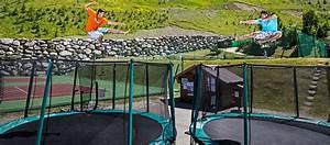 Trampoline in Tignes - Summer activities in Alps mountain