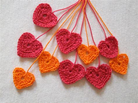 crochet heart patterns  valentines day