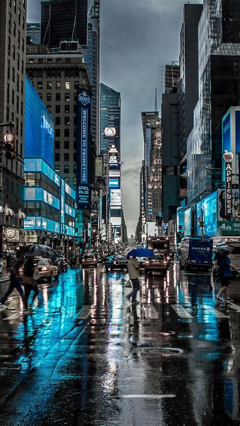 Nyc Iphone X Wallpaper 4k by 1080x1920 New York City Reflection Motion Blur