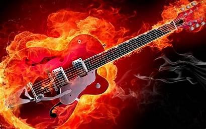 Guitar Electric Wallpapers Guitars Desktop Fire