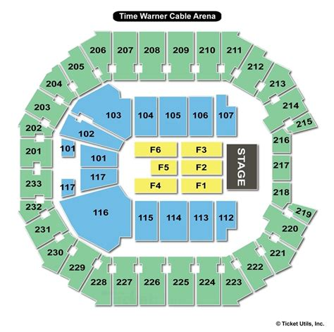 spectrum center charlotte nc seating chart view