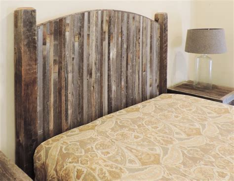 Wood Headboards King by Farmhouse Style Arched King Bed Barn Wood Headboard W