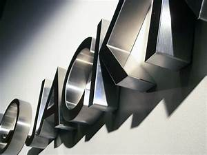 fabricated stainless steel letters impact signs With fabricated metal letters