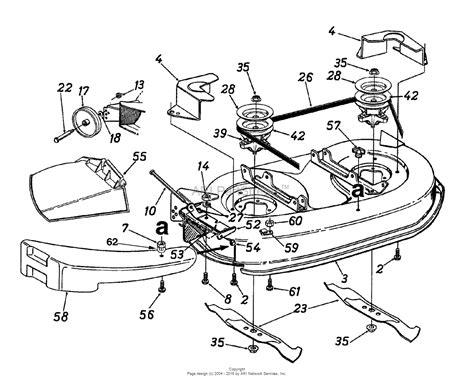 Mtd 13af660g352 (2000) Parts Diagram For Deck Assembly