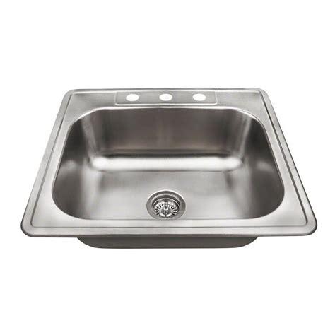 best stainless steel sinks water creation top mount zero radius stainless steel 25 in