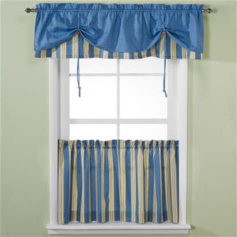 versa tie 174 stripe window curtain valance
