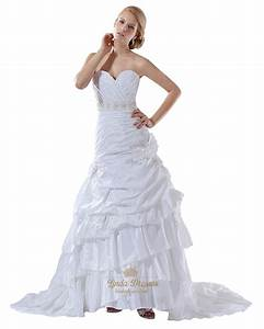white taffeta layered skirt mermaid wedding gown with With layered skirt wedding dress