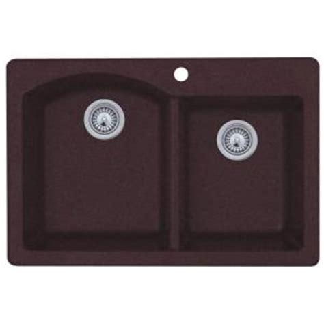 swan granite kitchen sinks swan dual mount granite 33 in 1 basin kitchen 5953
