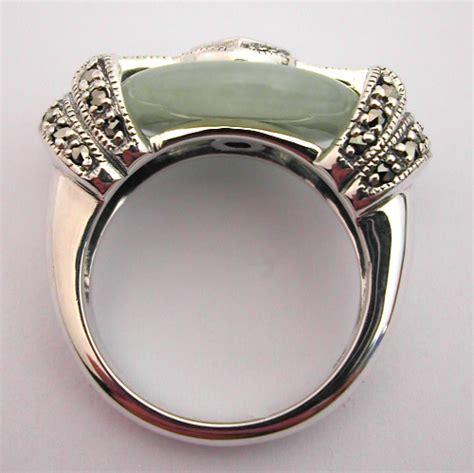 bague d 233 co bague argent jade grenat marcassite 121 style d 233 co bijoux anciens