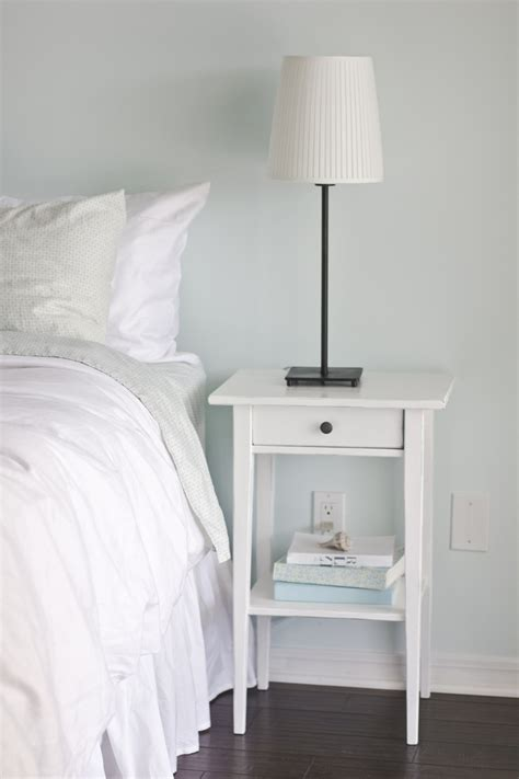 small white nightstand simple bedroom makeover with ikea hemnes