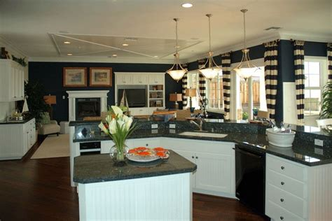 kitchen designs photo gallery navy walls and white cabinets are balance matching 4670