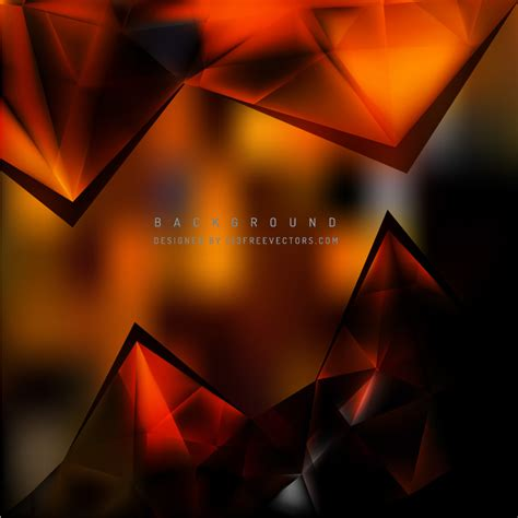Abstract Black Triangle Background by Abstract Black Orange Triangle Polygonal Background