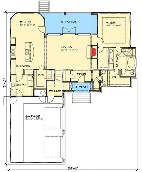 villa house plans 3 bedroom tuscan villa house plan 36803jg 1st floor