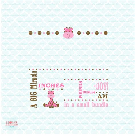 Metric baby birth stats svg birth announcement template. Pin on Homeberries SVG Cut Files Baby/Kid