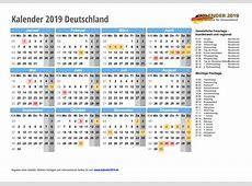 KALENDER 2019 mit Feiertagen & Ferien online