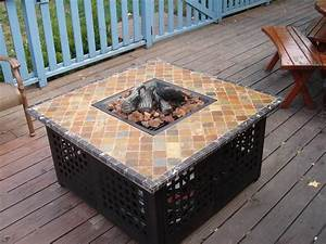 Homemade, Fire, Pit, Table