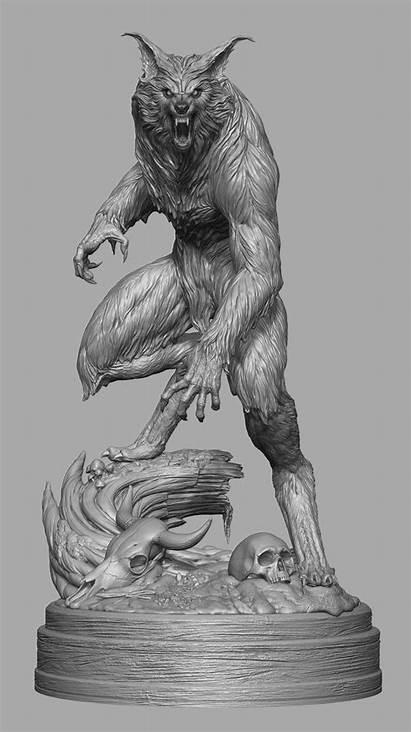 Werewolf Artstation Howling Sandifer Pcs Zbrush 3d