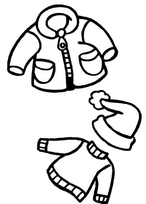 coloring pages of coloring page of winter clothes coloring home