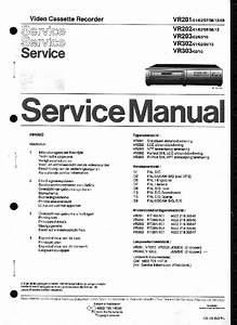 Philips Vr201 202 203 302 303 Service Manual Download