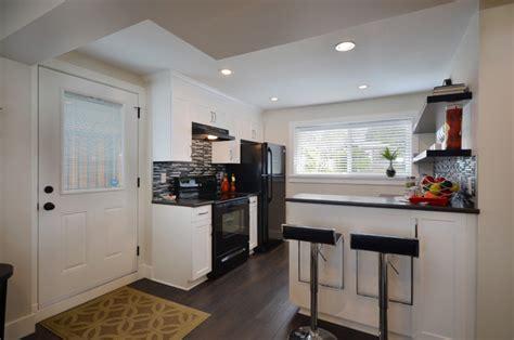 basement suite renovation contemporary kitchen