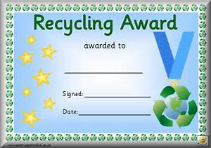 awards With certificate of recycling template