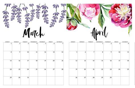 cute march april  calendar template  calendars