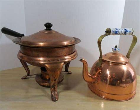 auction ohio copper kitchenware